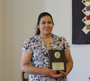 Irene Pacheco, recipient of the 2015 Early Head Start Parent Educator of the Year Award