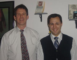 John Duffy and Jason Kunda facilitate parent-child visits.