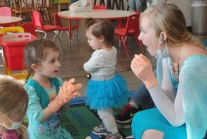 The Tooth Fairy visited Toddler Play & Learn Group to teach the children about proper dental hygiene.